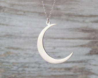 Crescent Moon Necklace Sterling Silver Moon Jewelry Rose Gold Moon Birthday gift  for women Mothers Day present teen bridesmaid