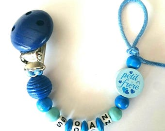 Personalized blue pacifier