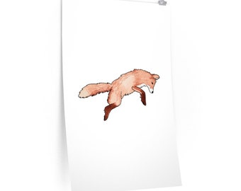 Leaping Fox Matte Poster