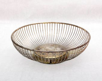 Raimond Silver Plated Wire Basket - Made in Italy