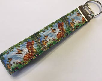 Bambi with Thumper Key Fob Keychain wristlet