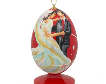 """3.5"""" First Dance on Wedding Night Wooden Christmas Ornament"""