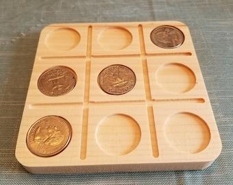 Quarters Tic Tac Toe