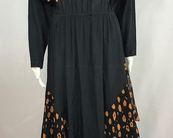 Vintage Decisions Long Sleeves Polyeste Maxi Dress size 10