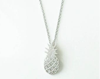 Pineapple necklace in 925 Silver or gold plated