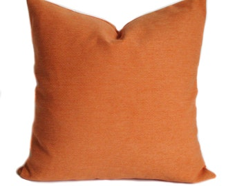 Orange Pillow Cover, Orange Throw Pillow, Couch Cushions, Shams, Lumbar  Pillow,