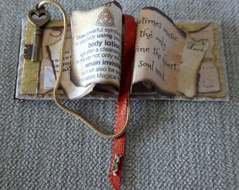 Miniature 1/12th Scale Dolls House Spell Book