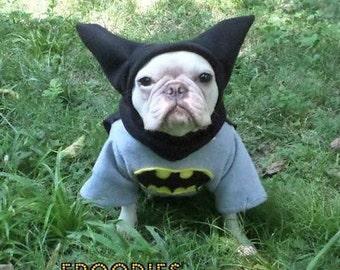French Bulldog Boston Terrier Pug Dog Froodies Hoodies Halloween Costume Cosplay Batman Fleece Jacket Sweatshirt Coat