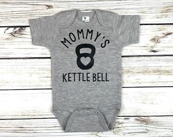 Mommy's Kettle Bell Baby Boy Bodysuit