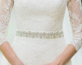 Bridal sash - rhinestone bridal sash - bridal belt - crystal bridal sash - wedding dress belt - bridal dress belt -  bridal sashes and belts