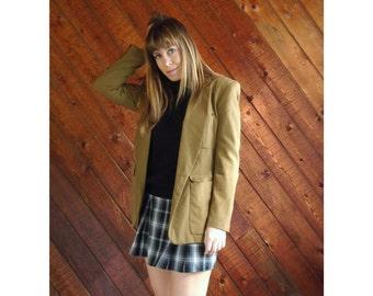 Khaki Green Gold DKNY Blazer Jacket - Vintage 90s - S