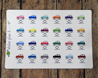 Car Repair Maintenance Planner Stickers! Set of 24 perfect for Erin Condren Life Planner, Plum Paper Planner, and others