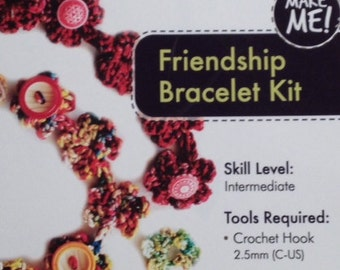 Pollika Crochet Friendship Bracelet Kit - Overdyed Metallic Shimmer