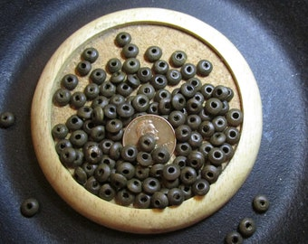 6mm Wooden Saucer/Rondelle Beads- * 100 or 500 *- Dark Brown- Eco-friendly boxwood beads made from renewable source
