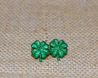 St. Patrick's Day, Shamrock Earrings, Shamrock Jewelry, Luck of the Irish Earrings, Clover Earrings, Clover Jewelry, Lucky Jewelry