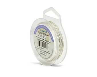 Non Tarnish Silver Artistic Wire – TWISTED ROUND – Permanently colored - You Pick Gauge 18, 20, – 100% Guarantee