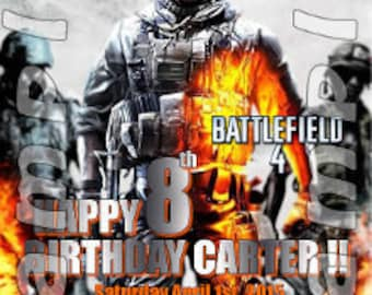 Battlefield 4X6 printed birthday invitations with envelopes