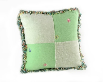 Lime Green Unbelievably Soft Fleece Square Pillow