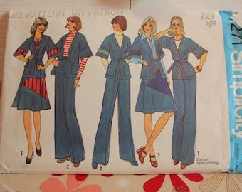 Jahrgang Muster, Einfachheit 7271, verfehlt Jacke, Muster, Jahrgang Einfachheit, ungeschnitten Muster, Rockmuster, 1975-Muster, Größe 16 Muster