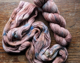 Canyon Hand Dyed Sock Yarn Single Ply 100g Speckled Skein Merino Wool