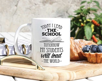 School Principal Mug - School Principal Gifts - Thank You Principal - Principal Mugs - Principal Gift - From Student Christmas -Thanksgiving