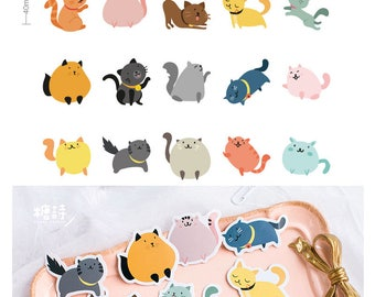 Cat Meow Stickers Pack SM232224 45pcs