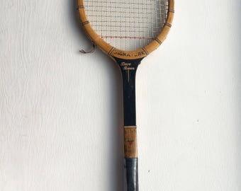 Vintage wooden tennis racquet - Dave Brown Signature wooden racquet