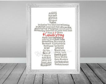 Inukshuk Word Art, Canada Word Art, Canada Day Art, Indigenous Word Art, Patriotism Word Art, Veteran Gift, Birthday Gift, INSTANT DOWNLOAD