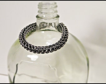 Bright Stainless steel  Full Persian classic chainmail bracelet chainmaille
