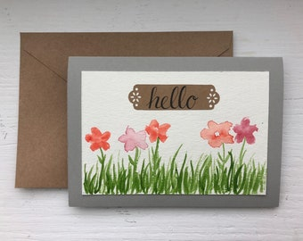 Watercolor Floral Spring Greeting Card
