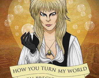 Jareth the Goblin King Valentine- Labyrinth fan art original illustration print