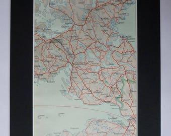 Viborg denmark map Etsy