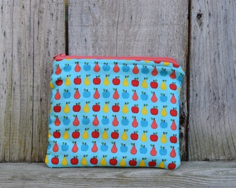 Small zippered pouch, small toiletry bag, small make-up bag, children's treasure pouch