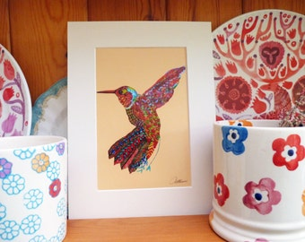 Hummingbird Picture Hummingbird Print Hummingbird Doodle Hummingbird Artwork - A Pleasing little hummingbird print, sit just about anywhere