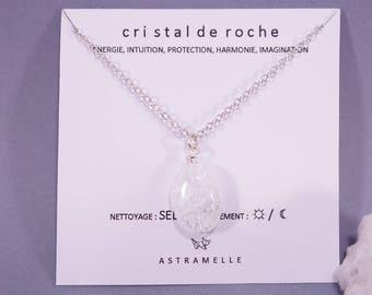 Rock crystal star necklace