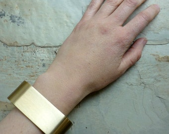 Reserved To Sonja - Square Gold-Plated Cuff, wide cuff, statement bracelet, chunky cuff, modern bracelet, gold plated jewlery, wide bracelet