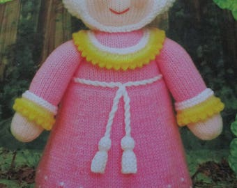 Handmade Knitted Maid Marion Part Of The Story Book Collection (New, Made To Order) 3+