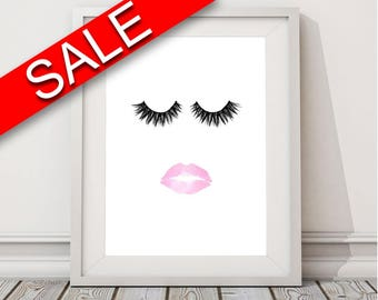 Lashes Framed Print Available Lips Canvas Print Available Lashes Fashion Art Lips Fashion Print Lashes Printed Lips eyelashes print