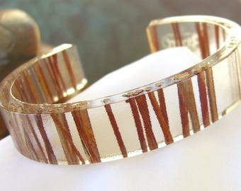 Recycled Cuff Bracelet Ecofriendly Reclaimed Resin Jewelry by 3Form
