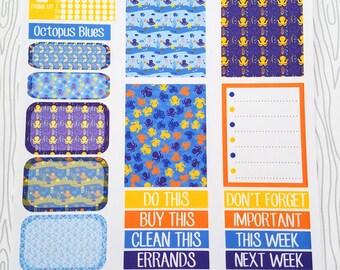 Octopus Blues Minimalist Weekly Kit (Set of 32) Item #735
