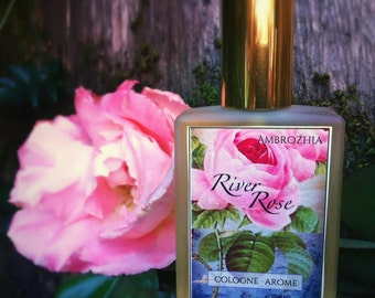 Cologne Natural RIVER ROSE rose absolute, geranium, rosewood, oakmoss, pink grapefruit, clove, nutmeg, vegetal ambergris