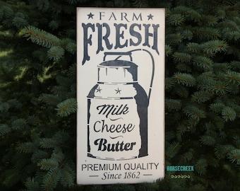 Farm Fresh Sign, Farmhouse Wall Decor, Vintage Advertising Sign, Farmers Market, Farmhouse sign, Farmhouse Kitchen