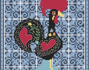 Rooster of Barcelos Cross Stitch Pattern