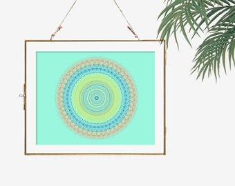 Coral and turquoise decor bright colors yellow kitchen decor modern home decor wall art office wall decor bohemian decor print posters art
