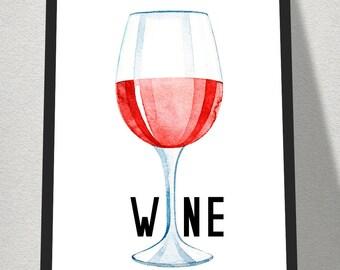 A4 Wine digital print, digitaldownload,printable,A4 prints