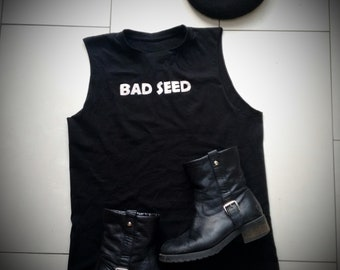 BAD SEED Nick Cave Hand Painted Cult Iconic Pop Art Grunge Rock Band Vest