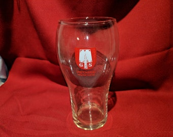 "SPATENBRAU Spatenbräu, Munchen Germany 6 1/2"" Tall Beer Glass GS ""Spade"""