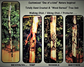 hiking stick - wood anniversary gift - Husband gift - wife gift - Retirement gift - Tribute gift - recognition gift,hikers gift idea