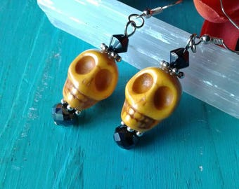 Large Skull Earrings