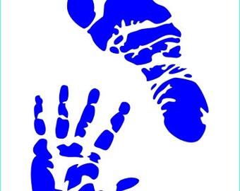 520 Baby Prints stencil
